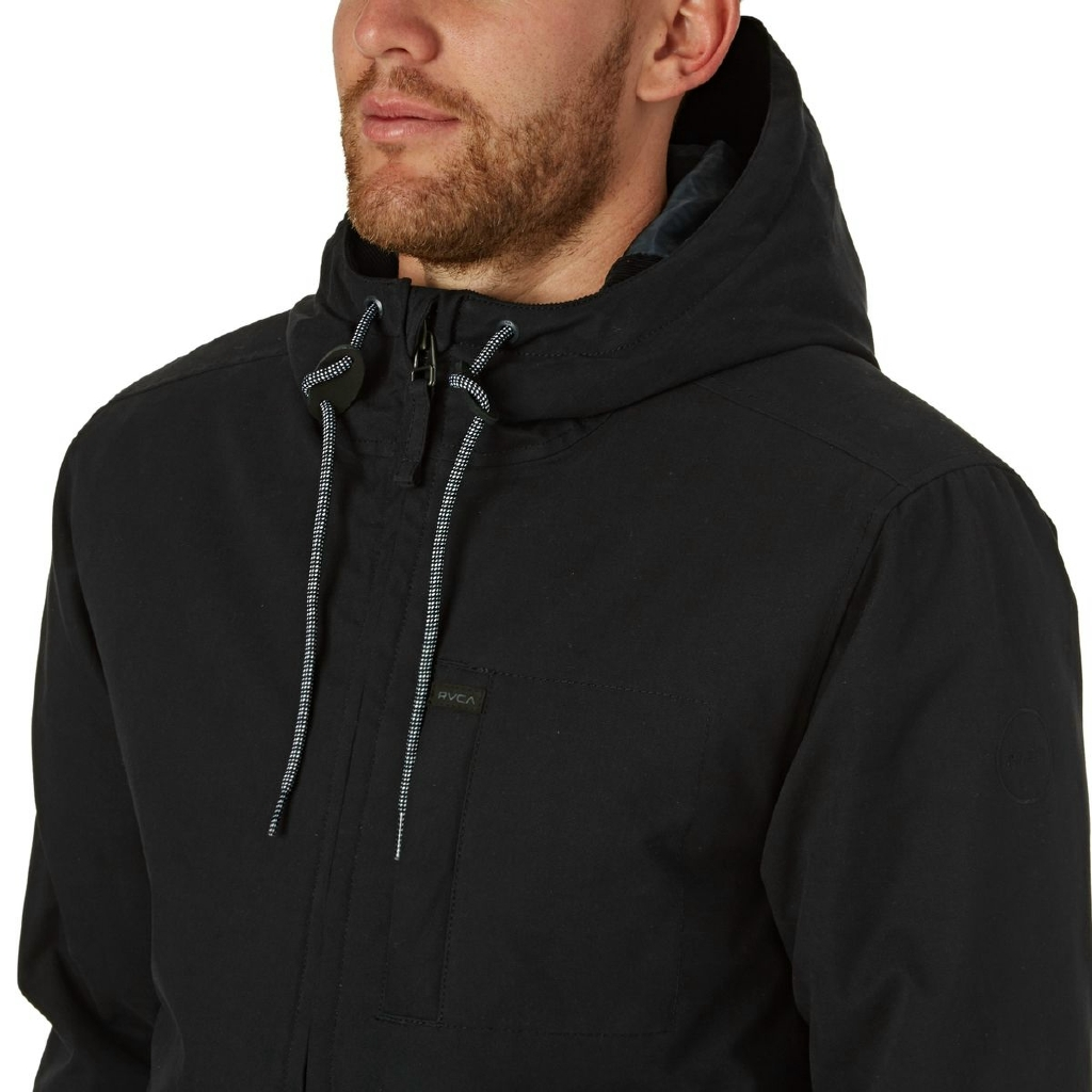 HOODED BOMBER - BLACK
