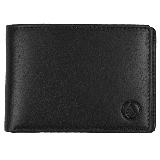 VOLCOM LEATHER WLT - BLacK