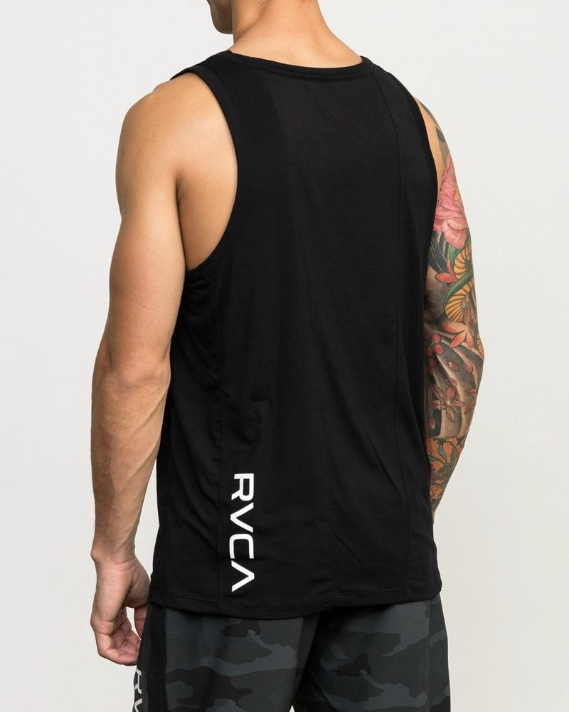 VA SPORT VENT SLEEVELESS TOP - BLACK
