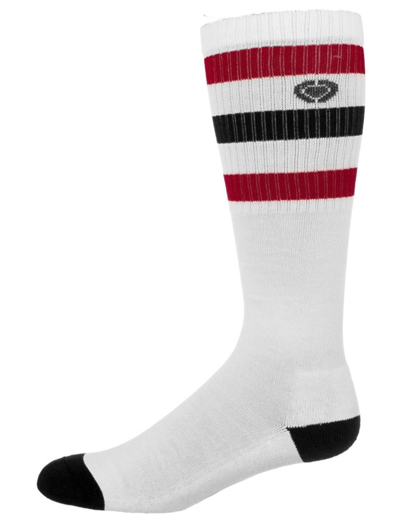 MARSHALL 3 SOCKS - White/Red/Navy