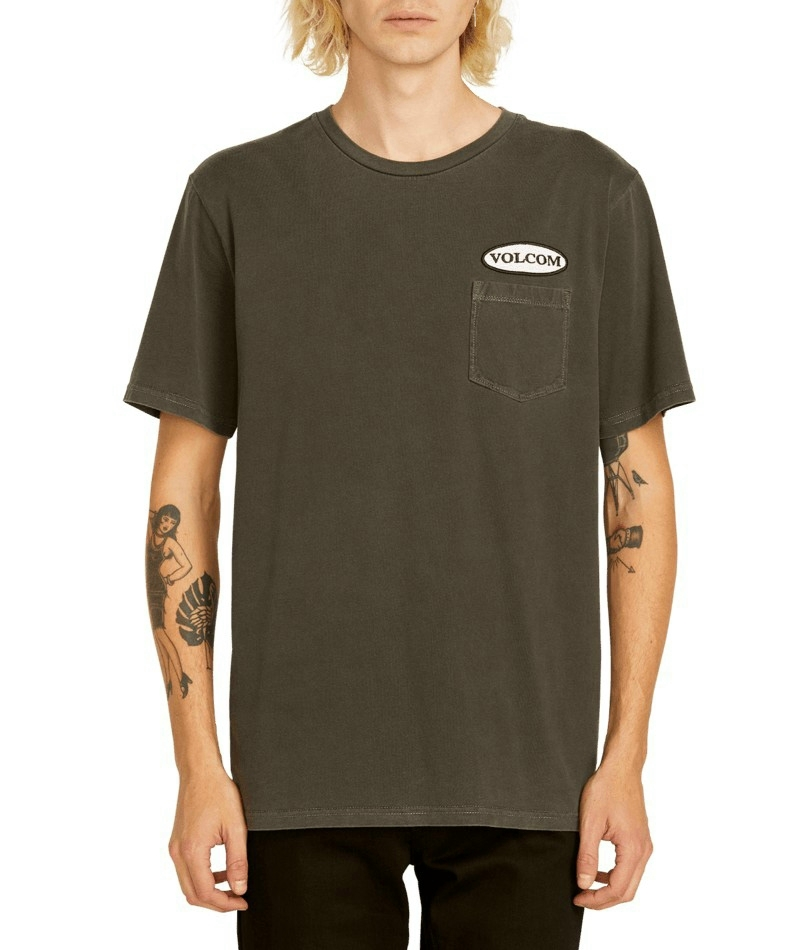 OVAL PATCH SS PCKT TEE - BLACK