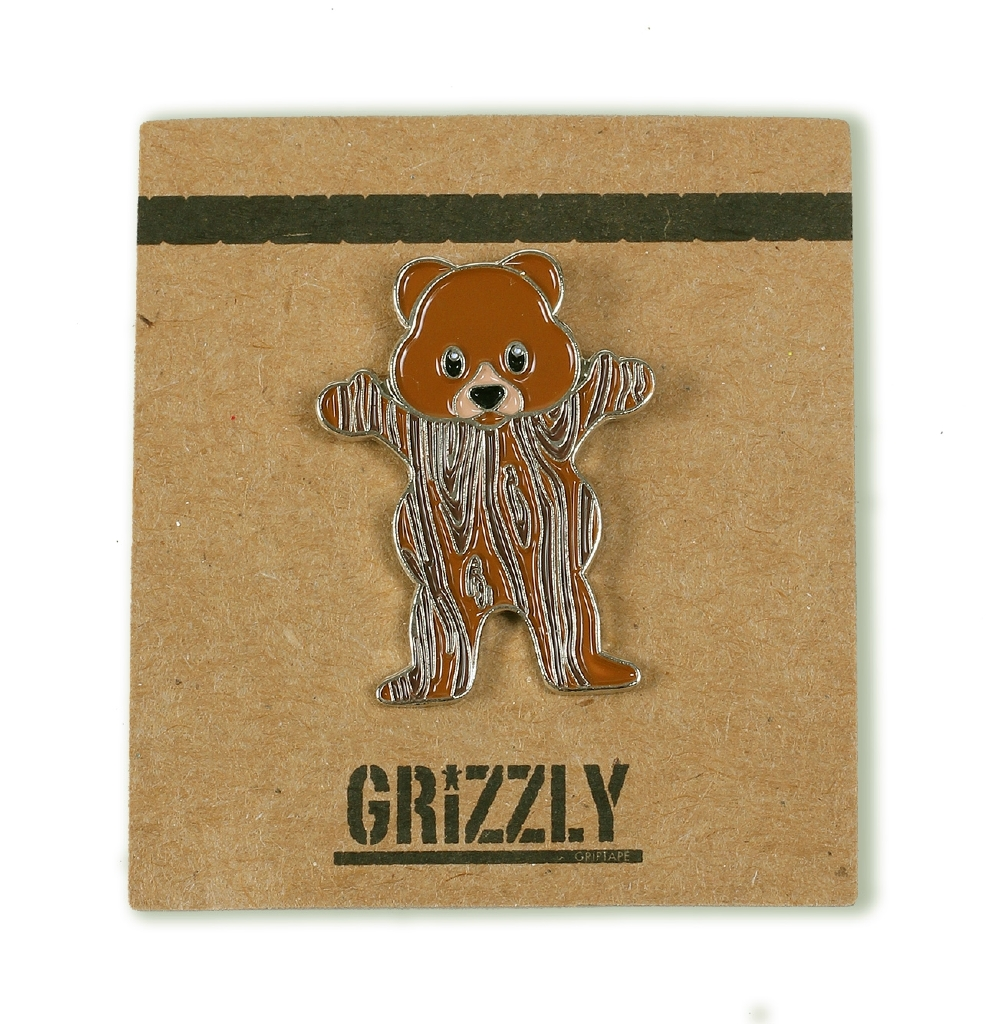 Woodgrain Bear Pin - ASST