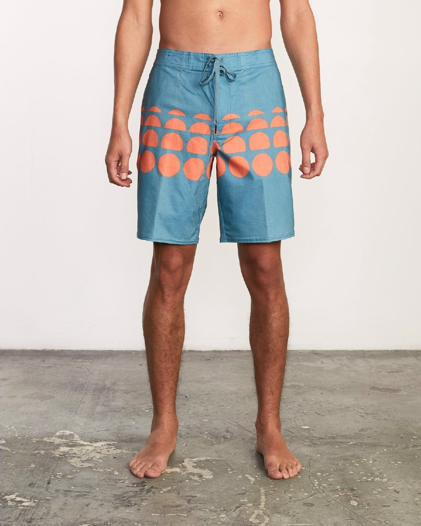 "WHITEHEAD DOTS TRUNK 19"" BOARDSHORT - CASCADE BLUE"
