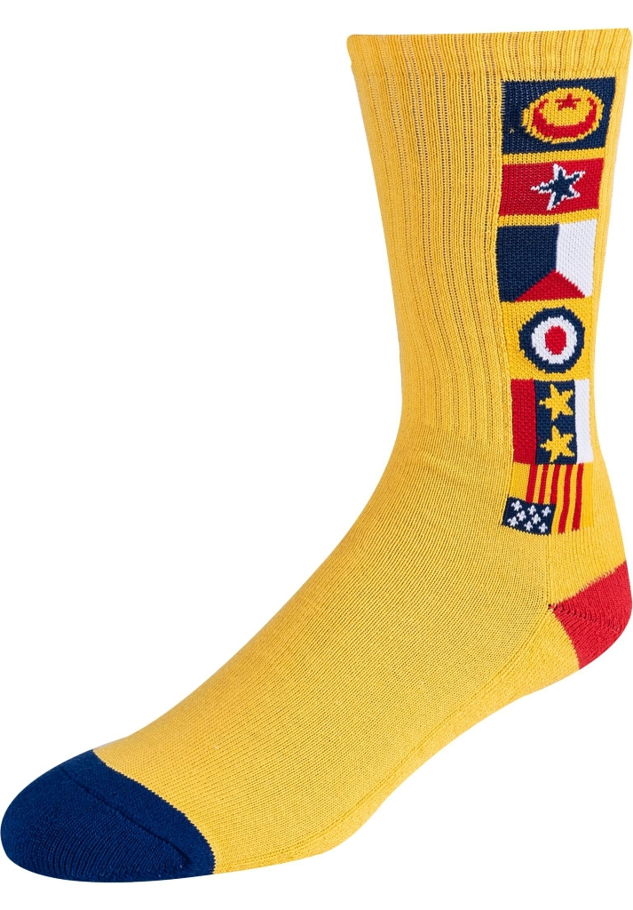 CHOCOLATE FLAGS CREW SOCK - YELLOW