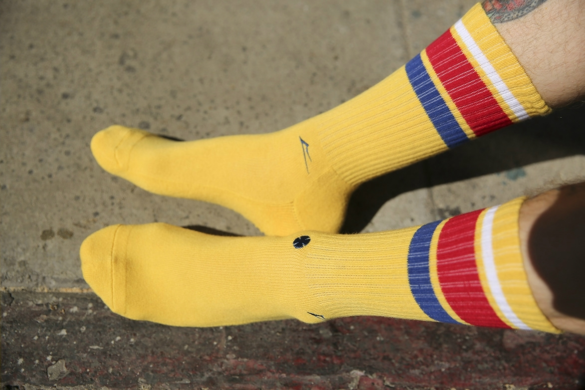 INDY CREW SOCK - GOLD