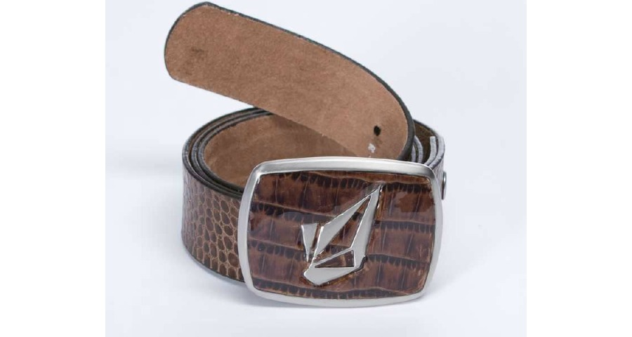 Half Stone Leather Belt - Cof