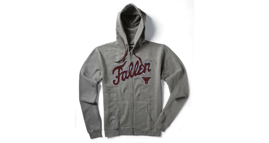 Fury Varsity Zip Hood - Gunmetal Heather/Burgundy/Lt Blue