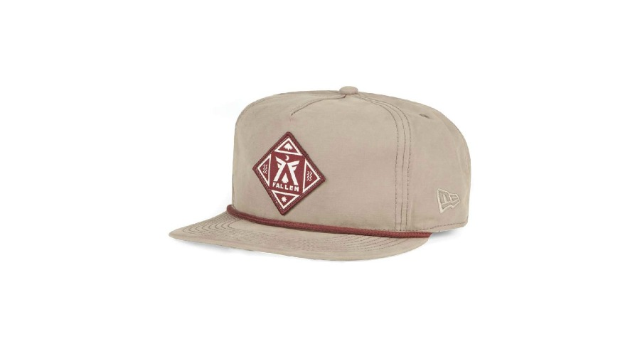 Lagos New Era Snapback Hat - Cement Grey/Cordovan