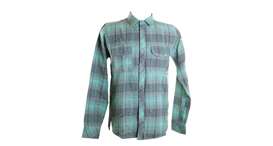 Emery Button Up - Afterburner Blue/Cement Grey