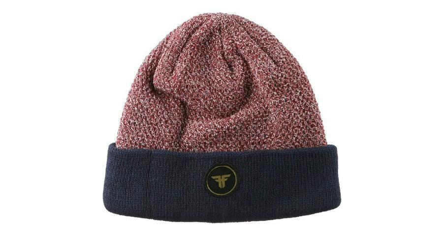 Double Up Beanie - Heather Oxblood/Midnight Blue