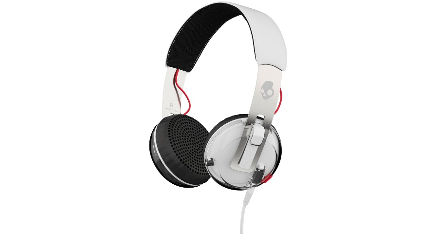 GRIND On-Ear - WHITE/BLACK/RED w/Taptech