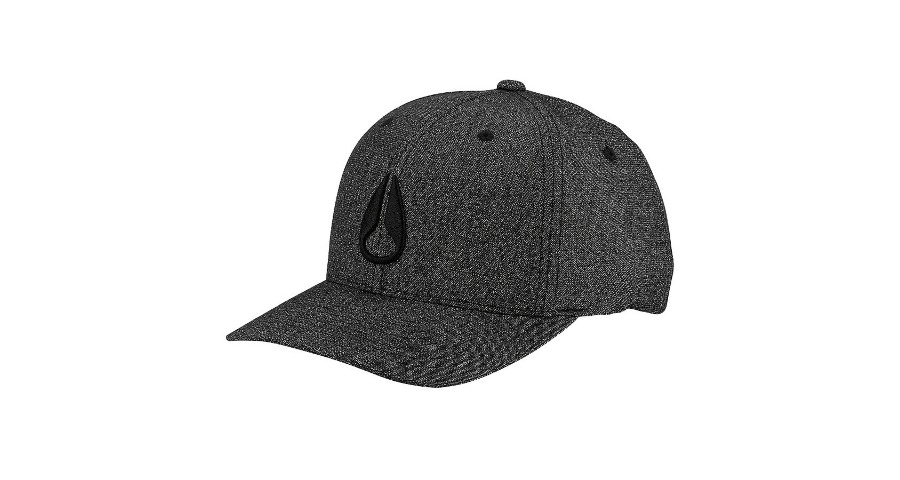 DEEP DOWN ATHLETIC TEXTURED HAT - ALL BLACK