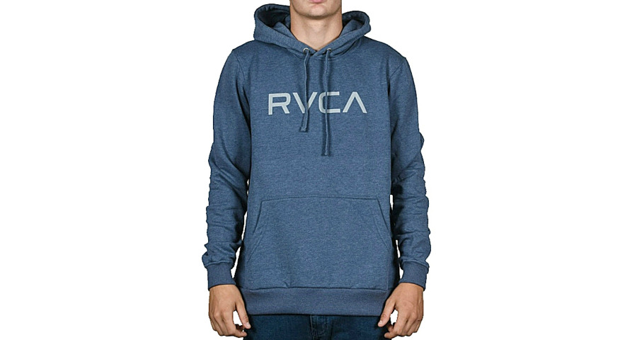 BIG RVCA HOOD - MIDNIGHT HEATHE