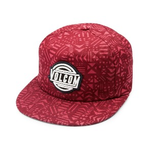 SHACK 5 PANEL HAT - DRIP RED