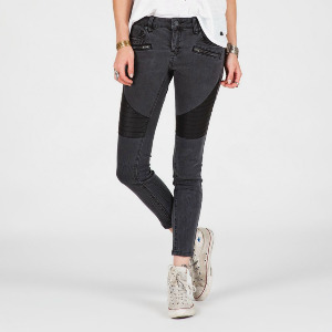 SUPER STONED ANKLE JEAN - VINTAGE BLACK