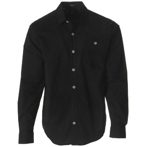 EVERETT SOLID L/S - BLK