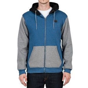 SNGL STN LINED ZIP - SMOKEY BLUE