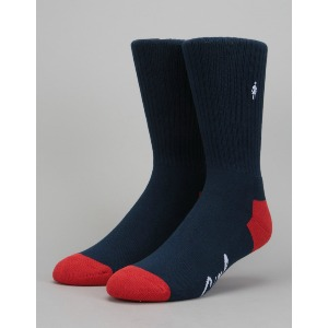 MICRO OG SOCK - NAVY/RED