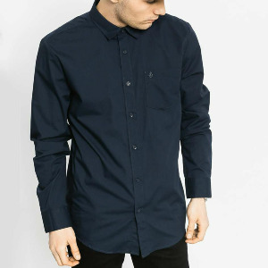 EVERETT SOLID L/S - NVY