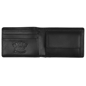 VOLCOM LEATHER WALLET - BLK