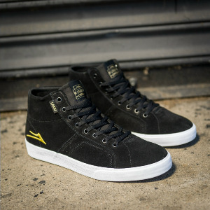 FLACO HIGH - BLACK/GOLD SUEDE