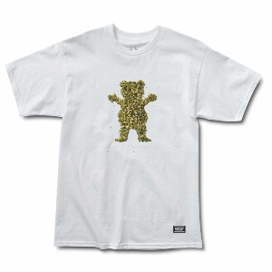 Roll Up Bear S/S Tee - White