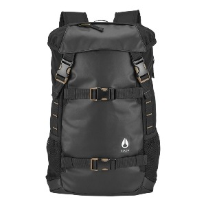 SMALL LANDLOCK BACKPACK II - ALL BLACK NYLON