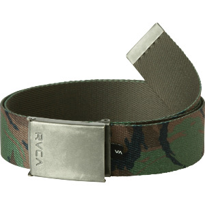 BLOCK PRINT WEB BELT - CAMO