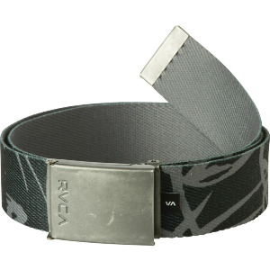 BLOCK PRINT WEB BELT - PIRATE BLACK