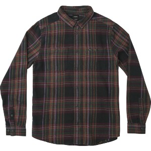 LUDLOW FLANNEL LS - PIRATE BLACK
