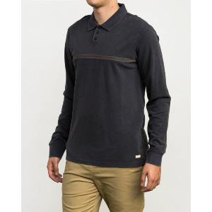 ANDREW REYNOLDS LS POLO SHIRT - OIL GREY