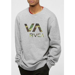 VA RVCA CREW - ATHLETIC HEATHER