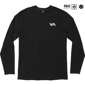 VA SPORT VENT LS TOP - BLACK
