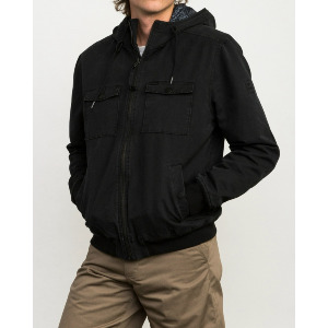 HOODED BOMBER II JACKET - RVCA BLACK