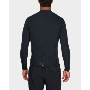 BACK ZIP NEOPRENE - BLACK