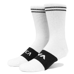 BASIC BLOCK SOCK - WHITE/BLACK