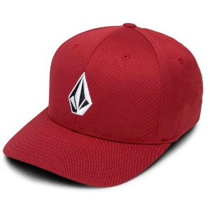 FULL STONE XFIT HAT - BURGUNDY