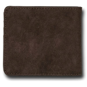 SLIM STONE PU WALLET L - DARK BROWN