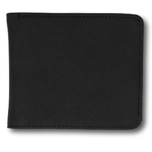 SLIM STONE PU WALLET L - NEW BLACK