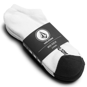 STONE ANKLE SOCK 3 PACK - WHITE