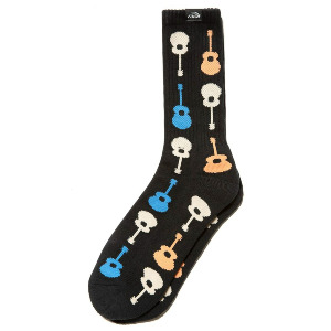 Guitar Crew Sock - Black