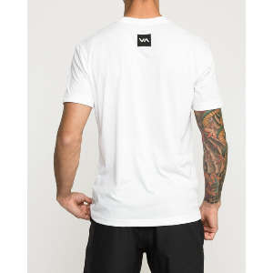 RVCA VERTED PERFORMANCE VA SPORT T-SHIRT - WHITE