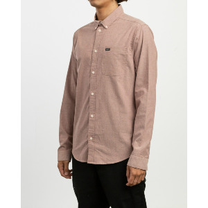 THAT'LL DO STRETCH LS SHIRT - BORDEAUX
