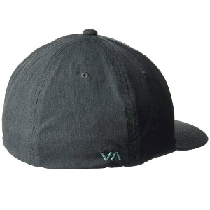 RVCA FLEX FIT BASEBALL HAT - CHARCOAL HEATHE