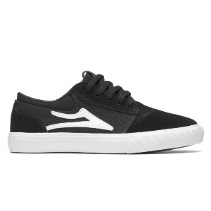 GRIFFIN KID'S - BLACK/WHITE SUEDE