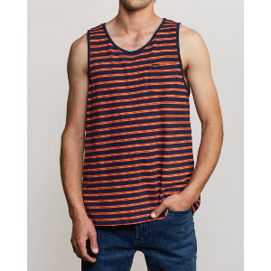 VINCENT STRIPE TANK TOP - FEDERAL BLUE