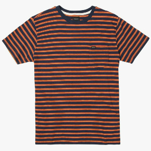 VINCENT STRIPE CREW T-SHIRT - FEDERAL BLUE