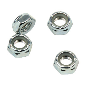 Axle Nuts Set 4 - Silver