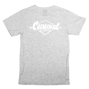 PAINTED LOGO PREMIUM TEE - HEATHER GREY/WHITE