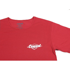 PAINTED LOGO PREMIUM TEE - RED/WHITE